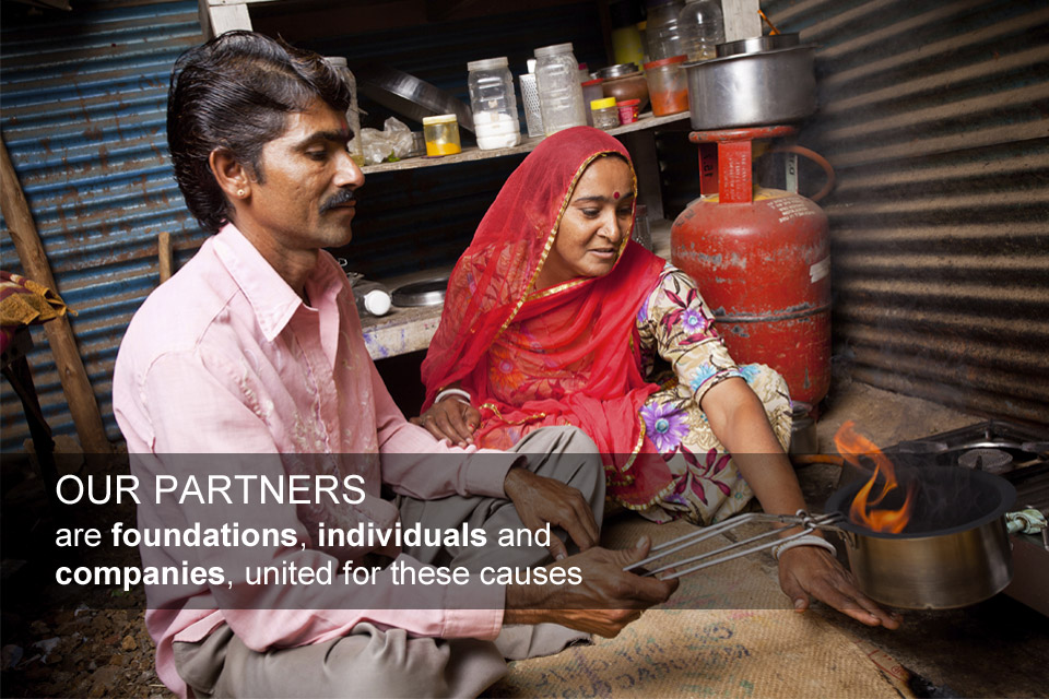 Our partners are foundations, individuals and companies, united in their passion for these causes.